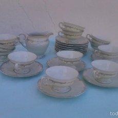 Antigüedades: PRECIOSO JUEGO DE CAFÉ DE PORCELANA FRIEDERIKE K.P.M. 1937/38 .DECORADO CON ORO DE 18 K. Lote 58273738