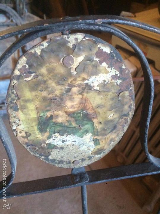 Antigüedades: Antigua cama / cuna de niño o bebe de hierro forjado de finales del siglo XIX plegable - Foto 4 - 58280425