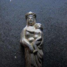 Antigüedades: FIGURITA CHAPA VIRGEN DEL PILAR SILUETA. Lote 58300518