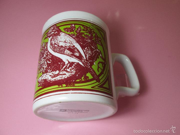 TAZÓN-COFFE MUG-ENGLAND-STAFFORDSHIRE-DISEÑO-9X8 CMS-PERFECTO ESTADO-VER FOTOS. (Antigüedades - Porcelanas y Cerámicas - Inglesa, Bristol y Otros)