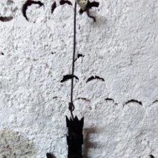 Antigüedades: CANDIL ANTIGUO DE HIERRO. CON SUS MECHAS Y ACEITE.. Lote 58306093