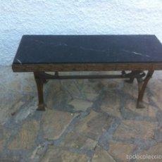 Antigüedades: MESA DE MÁRMOL Y FORJA.. Lote 58321680