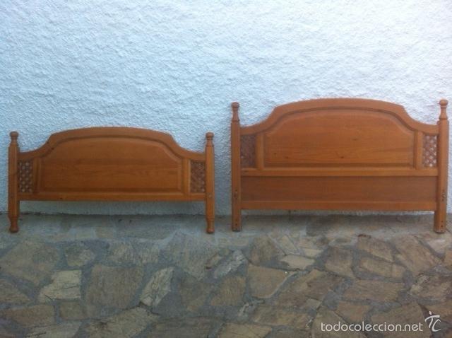 CABECERO Y PIECERO PROVENZAL. (Antigüedades - Muebles Antiguos - Camas Antiguas)
