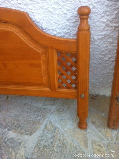 Antigüedades: Cabecero y piecero provenzal. - Foto 3 - 58321944