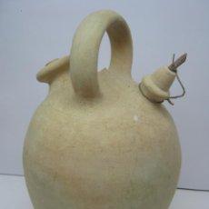 Antigüedades: ANTIGUO BOTIJO GRANDE CERAMICA BLANCA. Lote 58324473