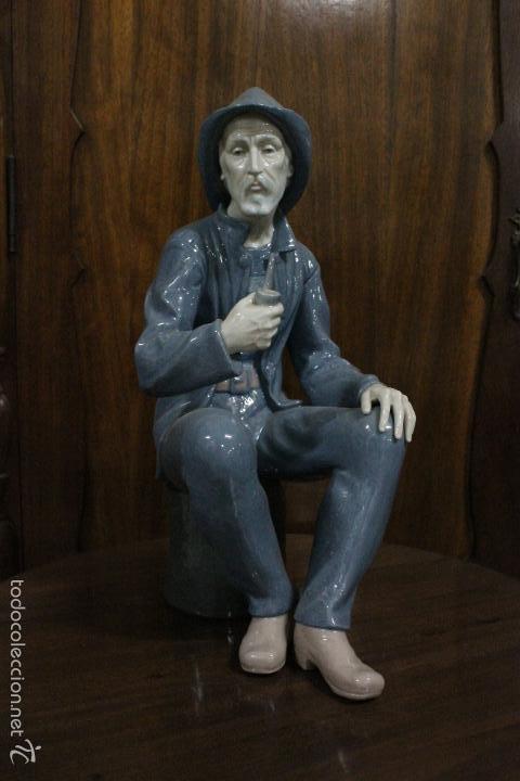 PORCELANA NAO LLADRO.NOSTALGIA DE MAR , ESCULTOR FRANCISCO CATALA AÑO 1960. IMPECABLE. 38X25 CMS (Antigüedades - Porcelanas y Cerámicas - Lladró)