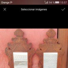 Antigüedades: PAREJA DE CORNUCOPIAS EN MADERA TALLADA, GRAN TAMAÑO. Lote 58336079