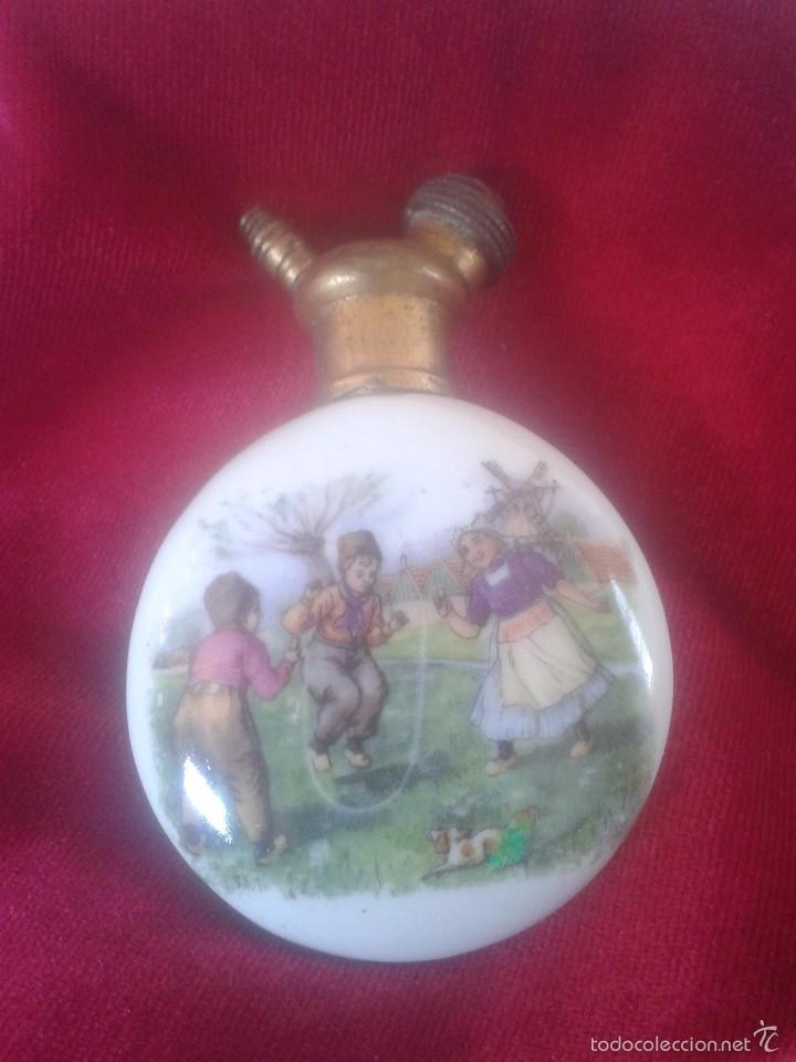 Antigüedades: Perfumero de porcelana S XIX - Foto 2 - 58339488