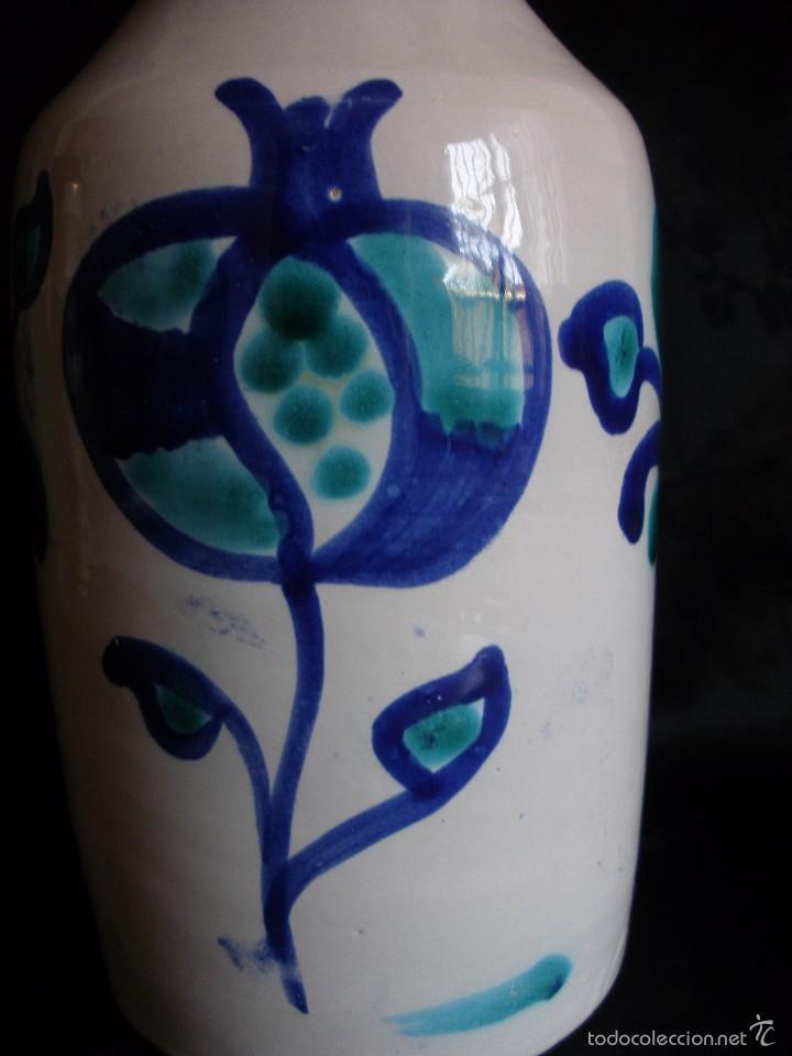 Antigüedades: Jarra aceitera alcuza de ceramica tornada cerámica de Fajalauza Granada. - Foto 3 - 58340312