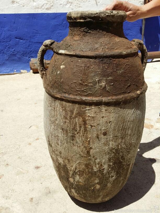 ANTIGUA TINAJA MARROQUÍ (Antigüedades - Porcelanas y Cerámicas - Otras)