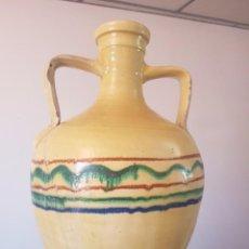 Antigüedades: CANTARO EN CERAMICA VIDRIADA DE LUCENA, CORDOBA - EXTRAORDINARIO PARA DECORACION - LIQUIDACION. Lote 58360358