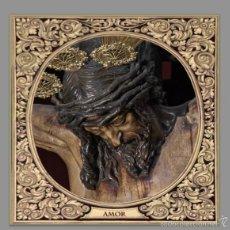 Antigüedades: AZULEJO 10X10 DEL STMO. CRISTO DEL AMOR DE SEVILLA. Lote 113331504