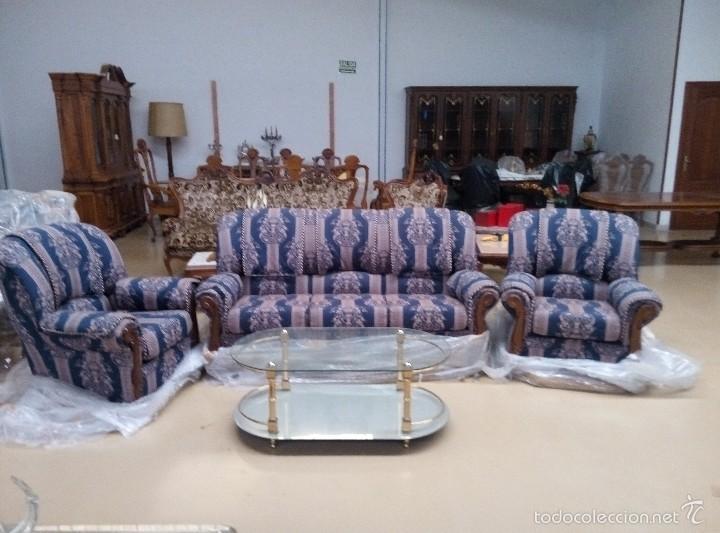 Antigüedades: Tresillo (1 sofá+2 sillones) - Foto 2 - 58374069