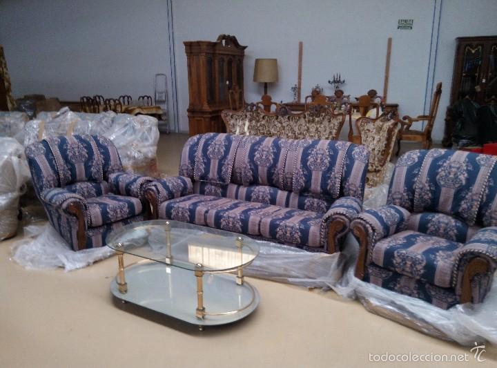 Antigüedades: Tresillo (1 sofá+2 sillones) - Foto 3 - 58374069