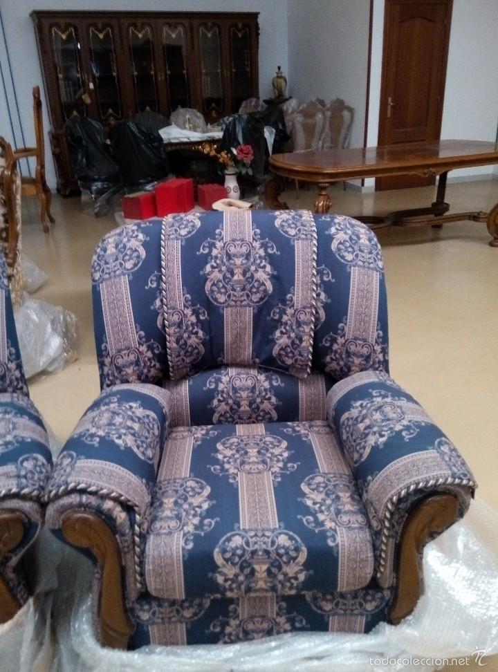 Antigüedades: Tresillo (1 sofá+2 sillones) - Foto 4 - 58374069