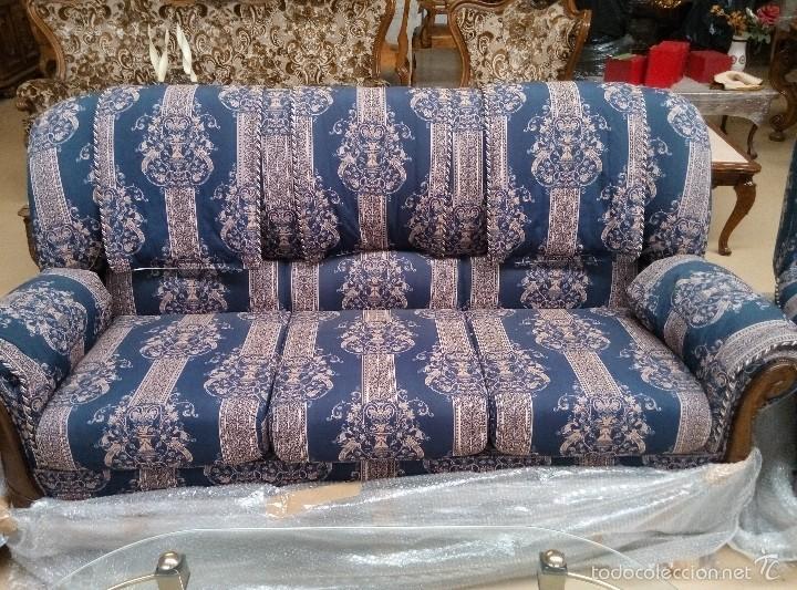 Antigüedades: Tresillo (1 sofá+2 sillones) - Foto 5 - 58374069
