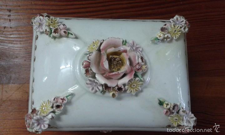 Antigüedades: cajita joyero de porcelana - Foto 2 - 58374562