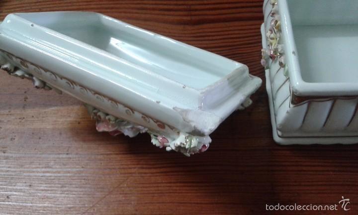 Antigüedades: cajita joyero de porcelana - Foto 3 - 58374562