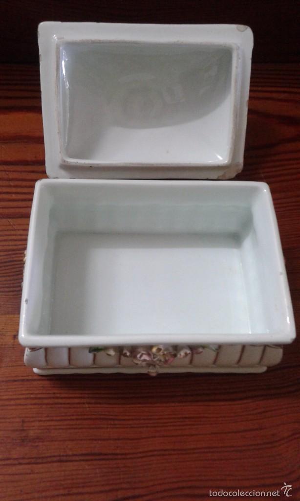Antigüedades: cajita joyero de porcelana - Foto 4 - 58374562