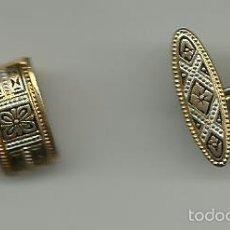 Antigüedades: ANTIGUOS GEMELOS, CON DAMASQUINADO DE TOLEDO EN ORO. Lote 88572834