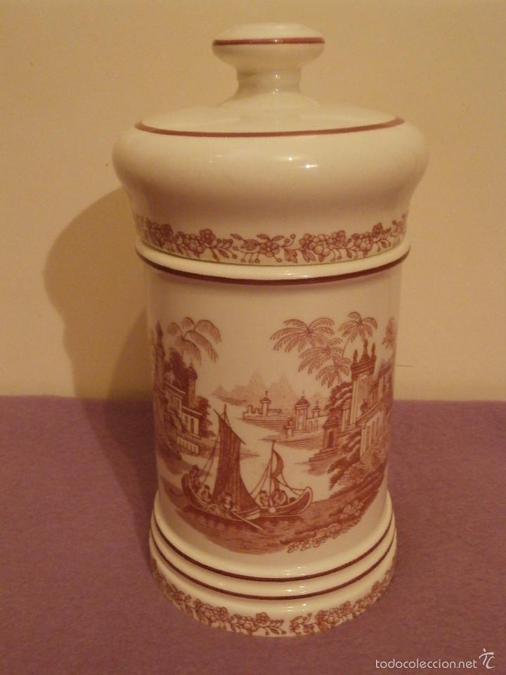 Antigüedades: Albarelo de Farmacia - Bote - Frasco - Recipiente - Pickman, S.A. - La cartuja - 22 cm. Altura - Foto 3 - 58384309