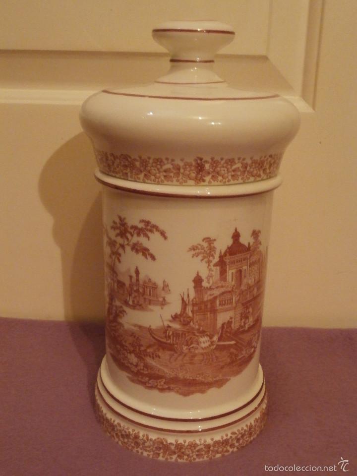 Antigüedades: Albarelo de Farmacia - Bote - Frasco - Recipiente - Pickman, S.A. - La cartuja - 22 cm. Altura - Foto 5 - 58384309