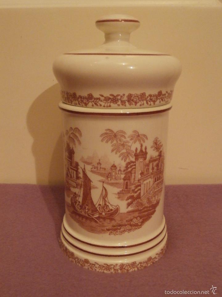 Antigüedades: Albarelo de Farmacia - Bote - Frasco - Recipiente - Pickman, S.A. - La cartuja - 29 cm. Altura - Foto 4 - 58384396