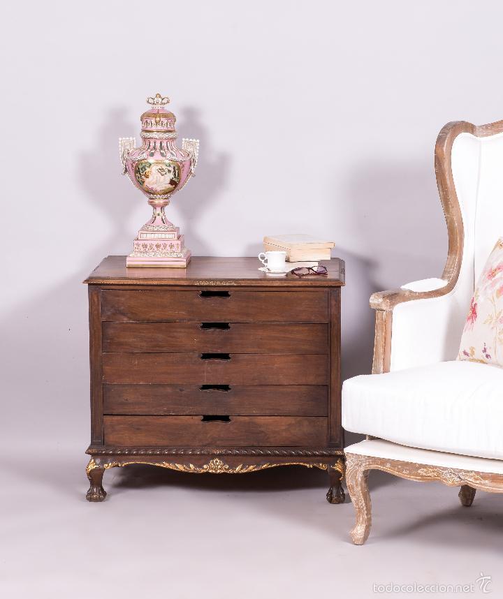 Antiguo mueble cajonera estilo chippendale vendido en - Muebles estilo antiguo ...