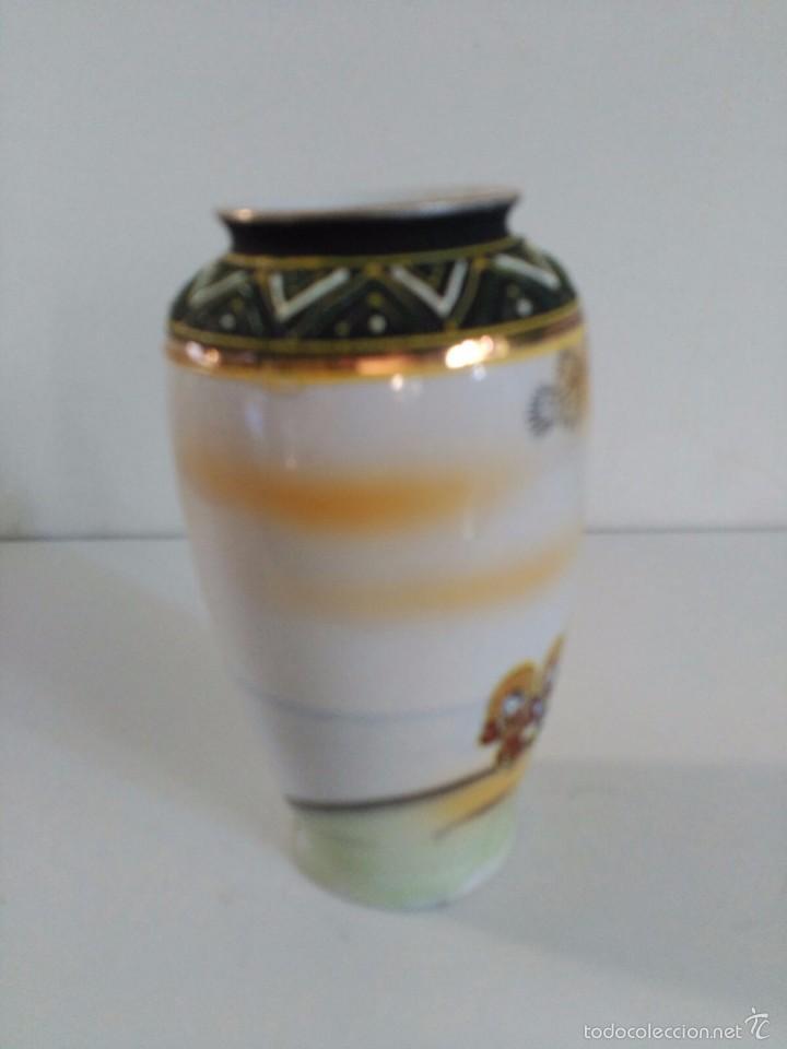 Antigüedades: Jarrón de porcelana japonesa Satsuma - Foto 2 - 58409680