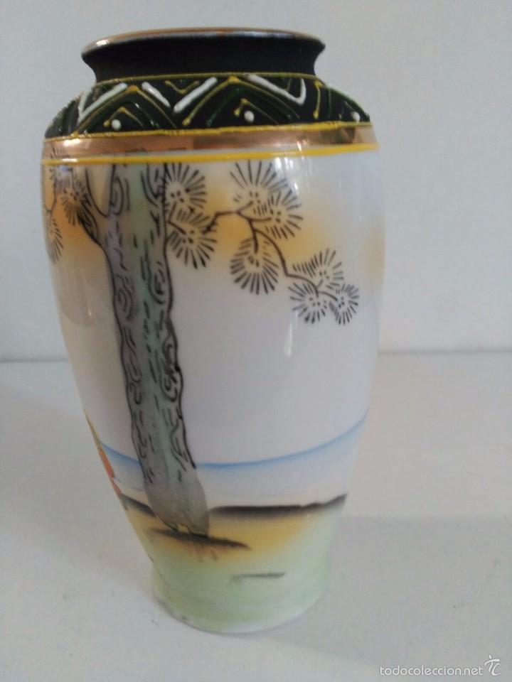 Antigüedades: Jarrón de porcelana japonesa Satsuma - Foto 3 - 58409680