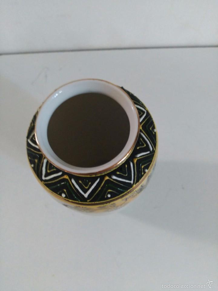 Antigüedades: Jarrón de porcelana japonesa Satsuma - Foto 5 - 58409680