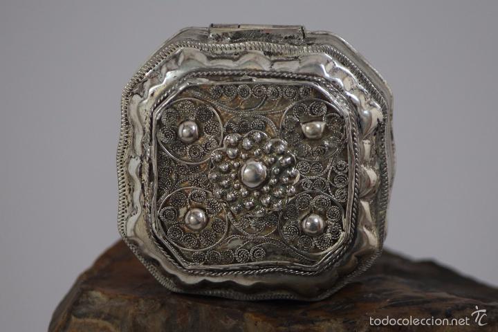 CAJA EN PLATA LEY 833 MARCADO (Antigüedades - Platería - Plata de Ley Antigua)