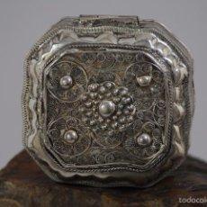 Antigüedades: CAJA EN PLATA LEY 833 MARCADO. Lote 58412738