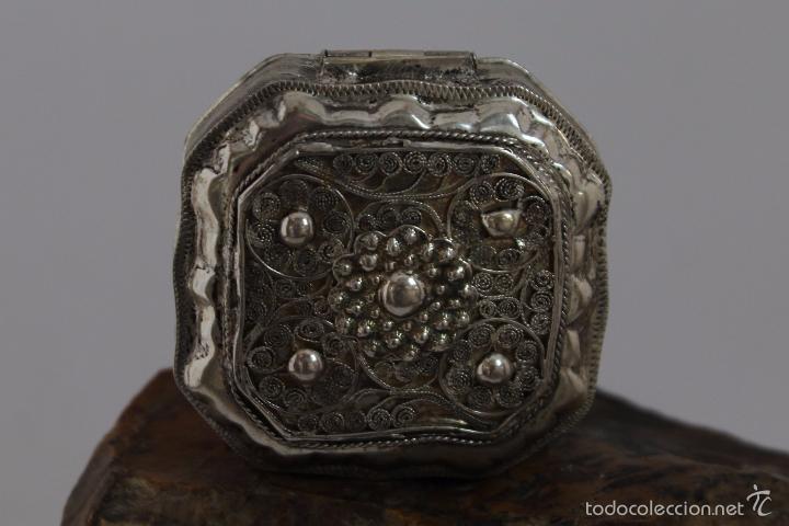 Antigüedades: CAJA EN PLATA LEY 833 MARCADO - Foto 2 - 58412738