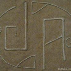 Antigüedades: ANTIGUA SÁBANA ART DECO DE CÁÑAMO CON INICIALES VAINICA PPIO.S.XX. Lote 58415218
