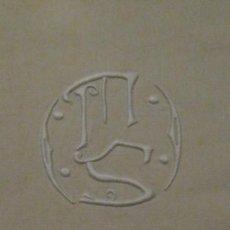 Antigüedades: ANTIGUA SÁBANA ART DECO DE LIENZO CON INICIALES VAINICA PPIO.S.XX. Lote 58415251