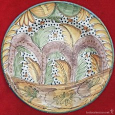 Antigüedades: PRECIOSO PLATO ANTIGUO EN CERAMICA DE RIBESALBES,(CASTELLON),S. XIX. Lote 58430150