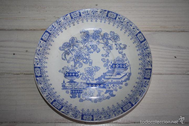 PLATO DE CERAMICA PONTESA (Antigüedades - Porcelanas y Cerámicas - Otras)