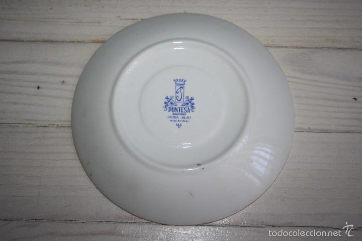 Antigüedades: Plato de ceramica Pontesa - Foto 2 - 58437851