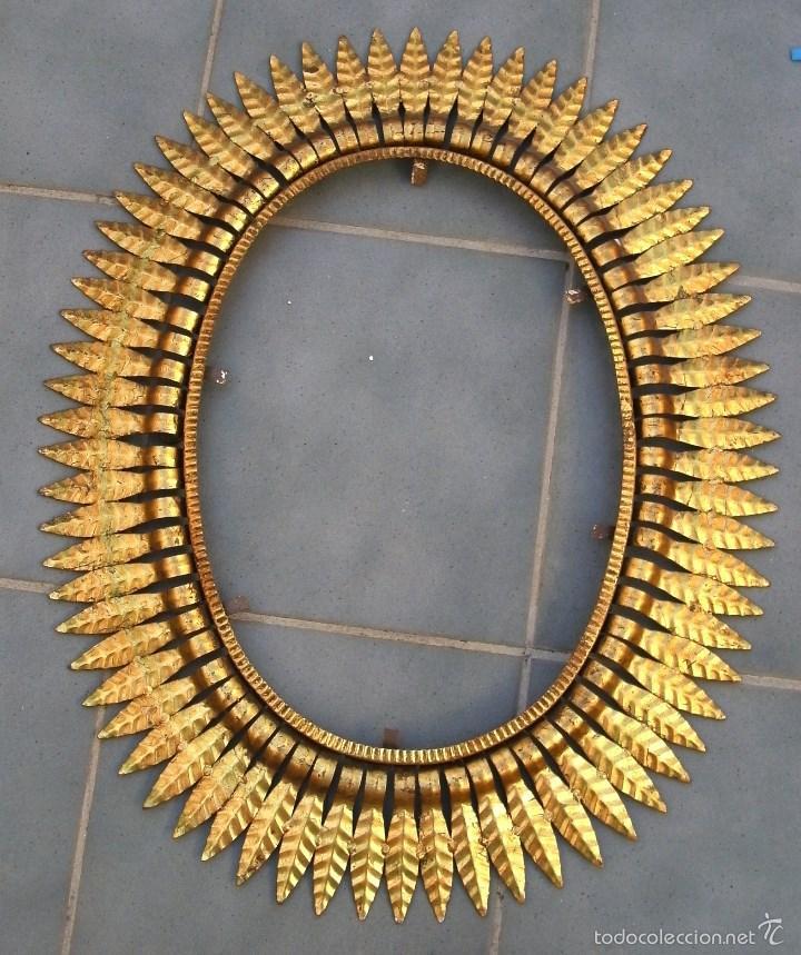 antiguo marco para espejo, de hierro dorado en - Comprar Marcos ...