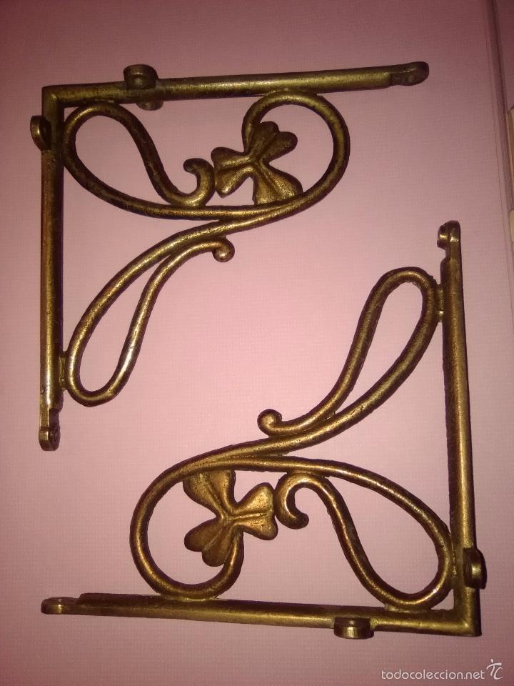 Escuadras bronce soporte estanteria modernista comprar - Soportes de estanterias ...