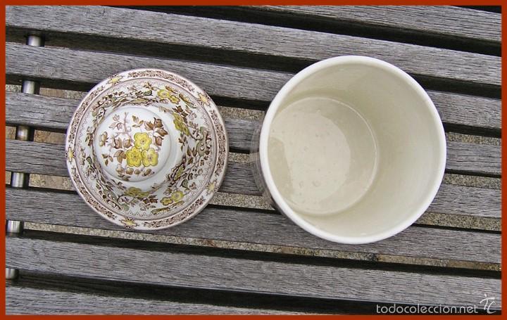 Antigüedades: Pieza porcelana tarro Tibor San Claudio Kantong......mide 23 cm X 12 cms de diámetro - Foto 2 - 58455389