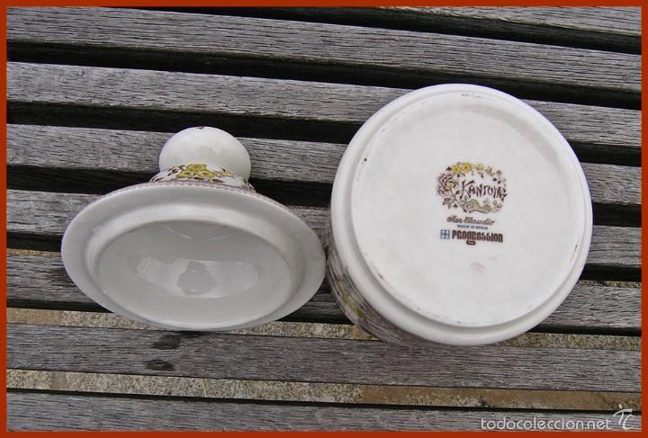 Antigüedades: Pieza porcelana tarro Tibor San Claudio Kantong......mide 23 cm X 12 cms de diámetro - Foto 3 - 58455389