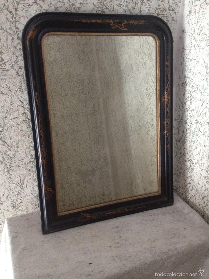 antiguo espejo con marco madera antiguo pintado - Comprar Espejos ...