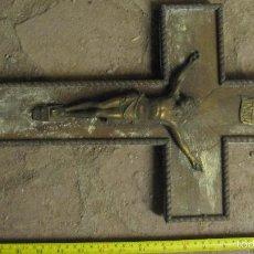 Antigüedades: CRUCIFIJO MADERA Y METAL.. Lote 58467671