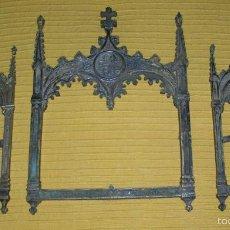 Antigüedades: TRES MARCOS DEL XVIII EN FORMA DE CAPILLA. Lote 58472206