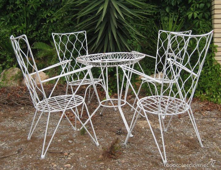 Mesa antigua hierro forja vintage jardin terraz comprar - Mesas de hierro para jardin ...