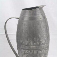 Antigüedades: JARRA / JARRÓN DE ESTAÑO / PELTRE - REALIZADO POR ALEXANDER PREVOT - PRINCIPIOS S. XX - ART NOUVEAU. Lote 58478855