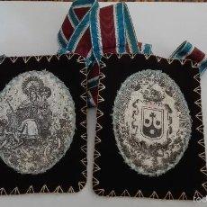 Antigüedades: ESCAPULARIO CARMELITA DEL XIX . Lote 58486183