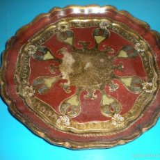 Antigüedades: BANDEJA O PLATO EN PAN DE ORO. DIÁMETRO 24CM. Lote 58490789
